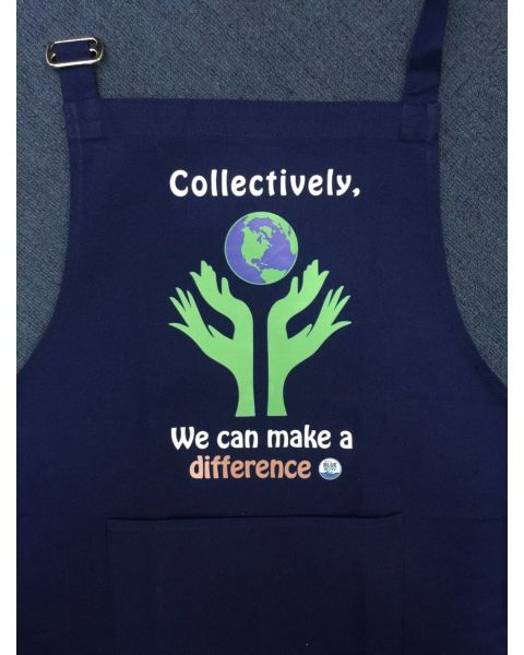 "Navy Apron ""Collectively"""