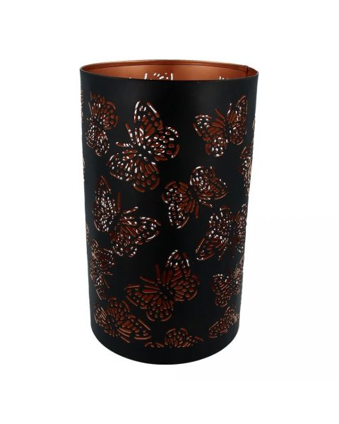 Medium candleholder with butterfly pattern