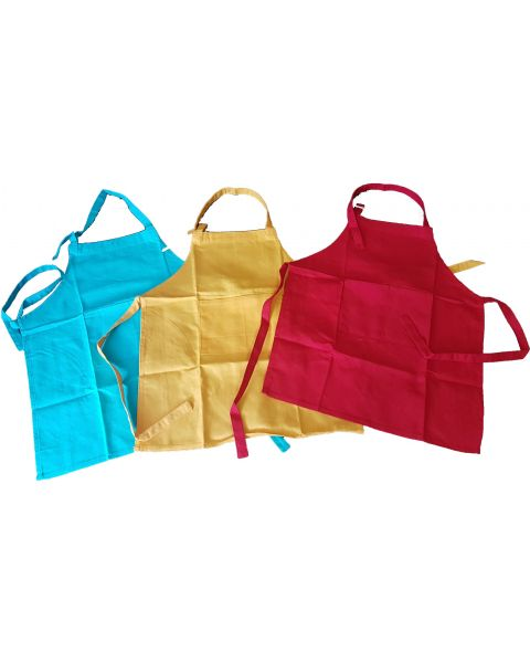 Kids Coloured Aprons