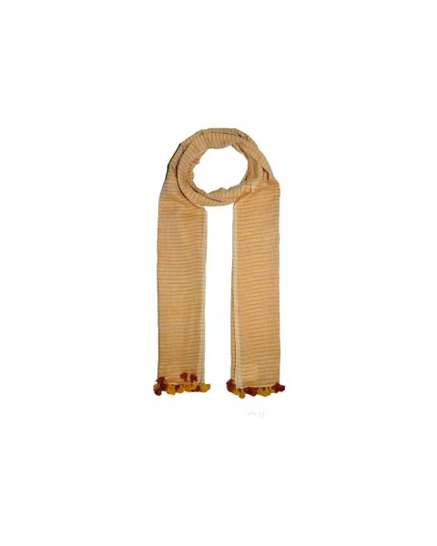 Cotton Scarf with Tassles