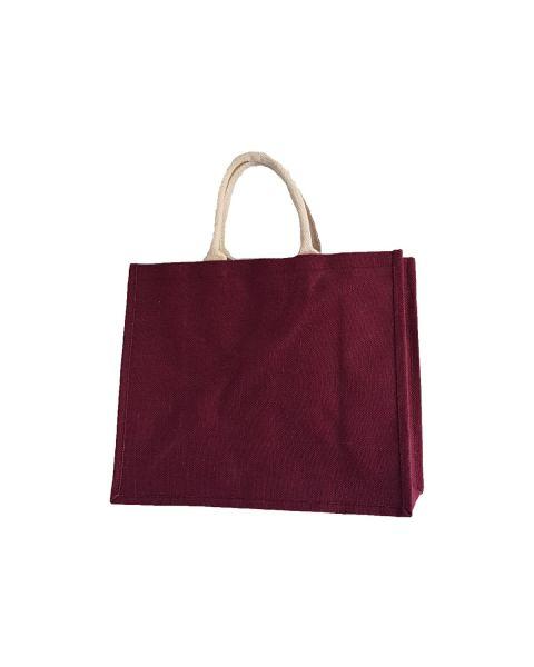 Maroon jute bag