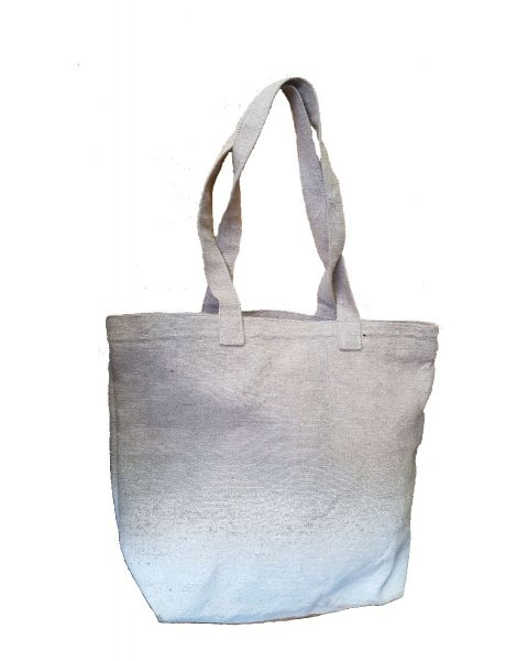 Washed jute fade shade bag