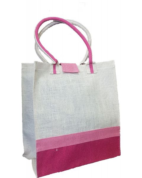 White Bag with Pink Stripes